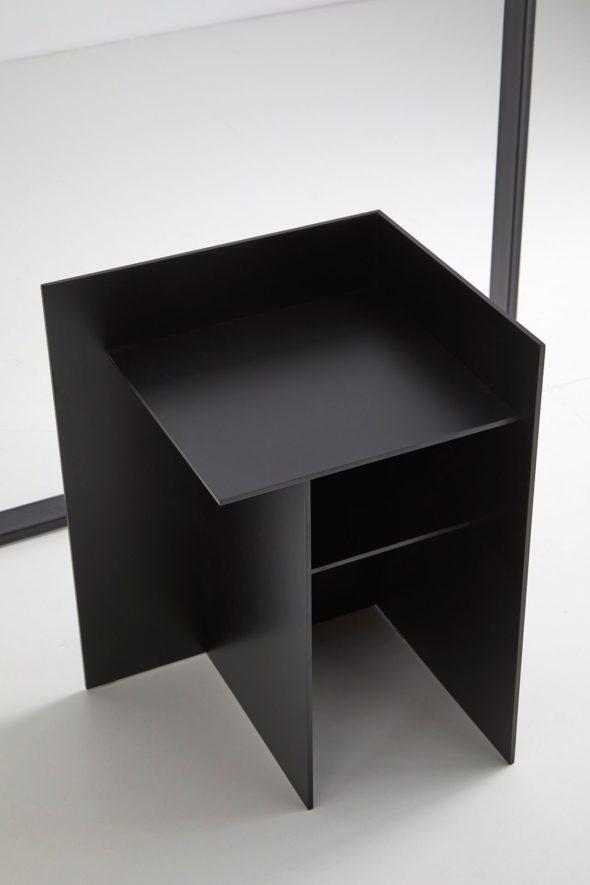 Table de chevet Cuatro noire - PUNT
