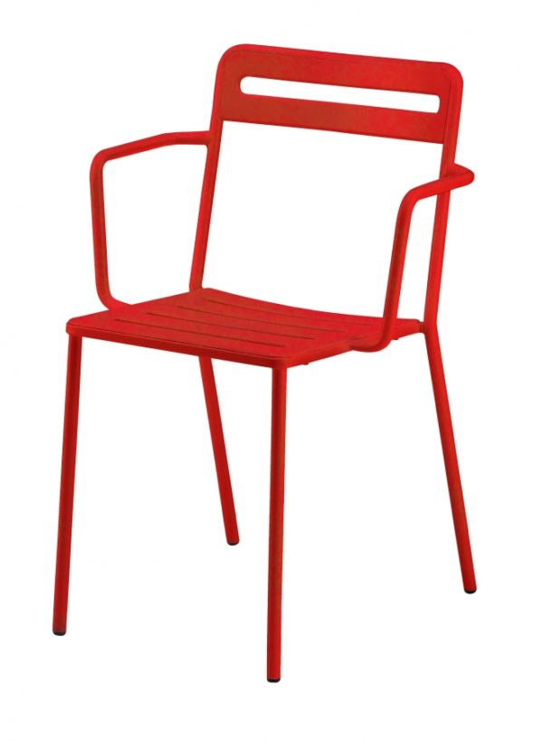 Chaise C1.2/1 rouge - COLOS