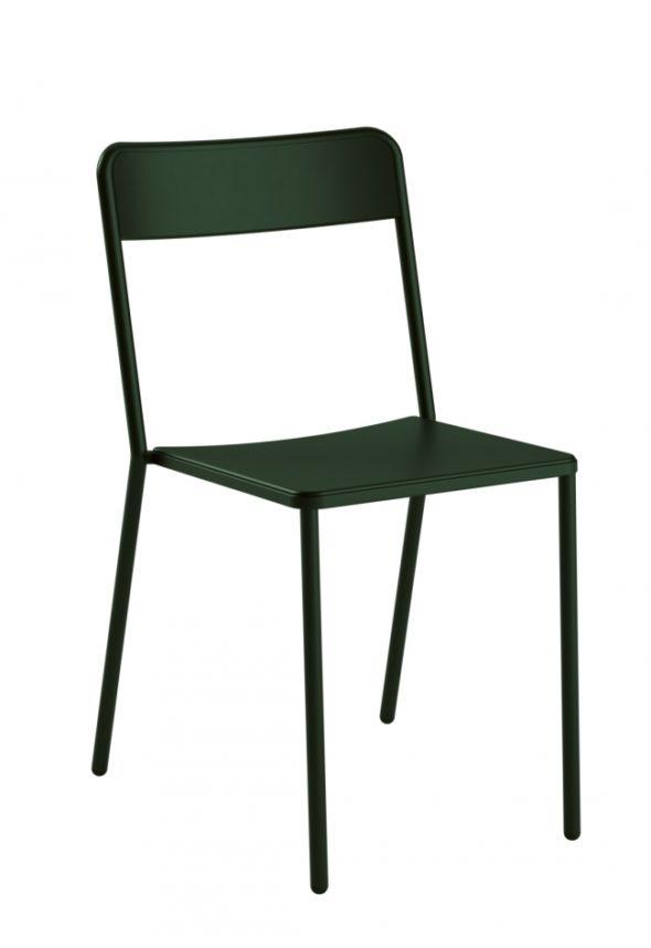 Chaise C1.1/1 verte foncée - COLOS
