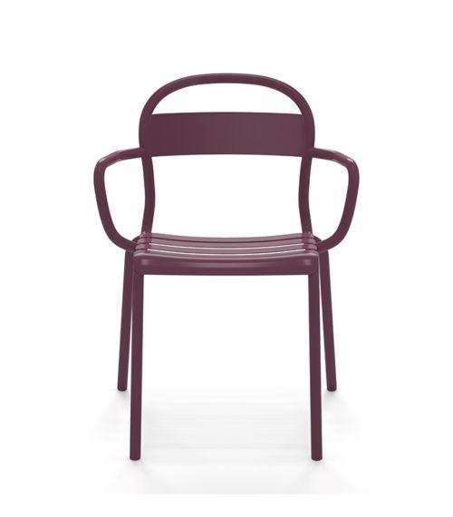 Chaise Stecca  aluminium aubergine – Colos