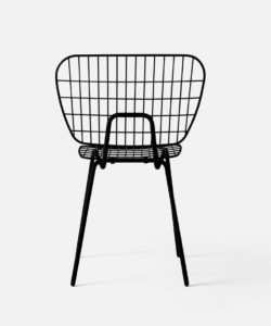 Chaise String noire- MENU