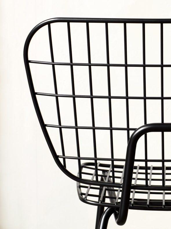 Chaise String noire - MENU