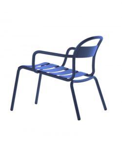 Chaise Longue Stecca bleu foncé - COLOS