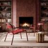 Chaise lounge de jardin aluminium aubergine - Colos