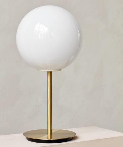 Lampe à poser TR bulb blanche shinny