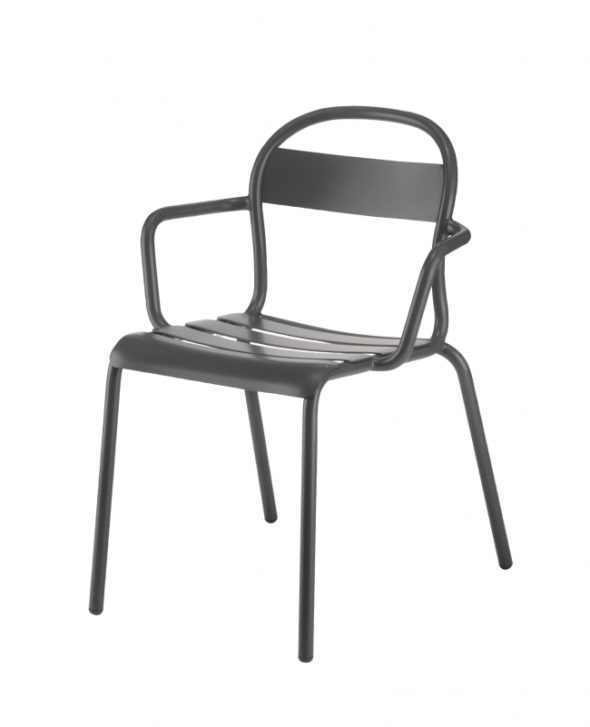 Chaise Stecca 2 grise - COLOS