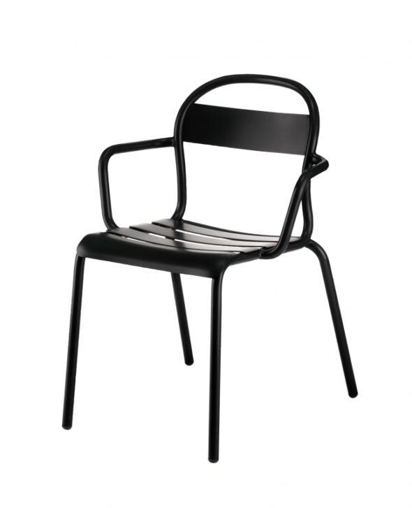Chaise Stecca 2 noire - COLOS