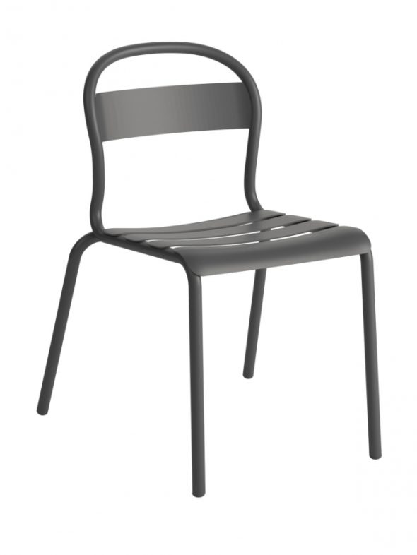 Chaise Stecca 1 grise - COLOS