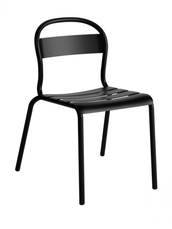 Chaise Stecca 1 noire - COLOS