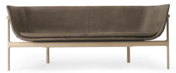 Sofa tailoir - Cuir Marron foncé