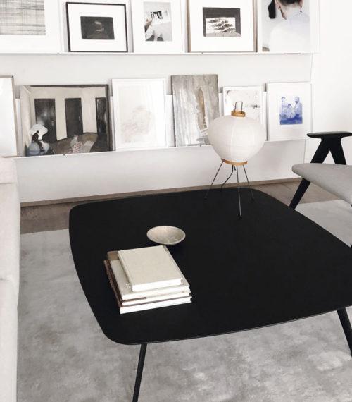 Table basse Solapa 120x120cm Fenix noir- STUA