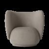Fauteuil Rico polyester gris foncé - Fermliving