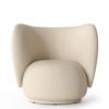 Fauteuil Rico polyester blanc - Fermliving