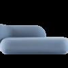 Divan Rico tissu tonus bleu ciel - Fermliving