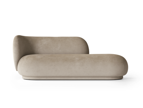 Divan Rico velours sable - Fermliving