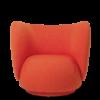 Fauteuil Rico tissu vidar rouge - Fermliving