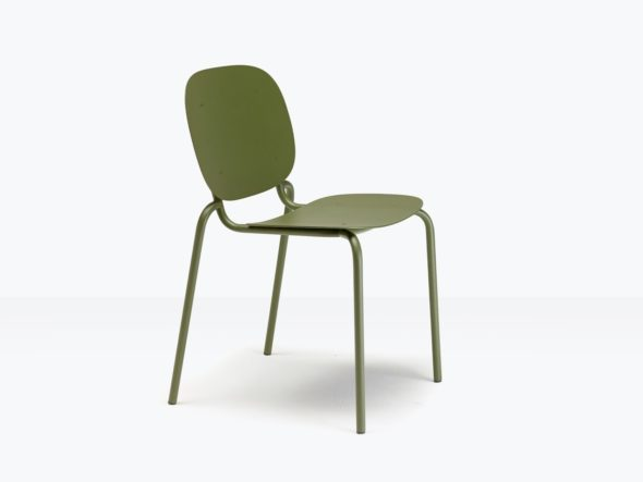 Chaise d'extérieur SISI simple sans accoudoirs - SCAB