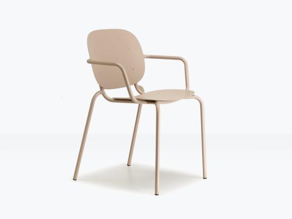 Chaise d'extérieur SISI simple avec accoudoirs - SCAB