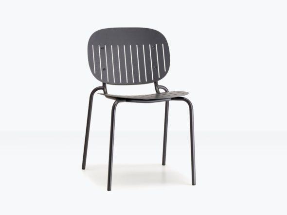 Chaise d'extérieure SISI assise ajourée anthracite - SCAB