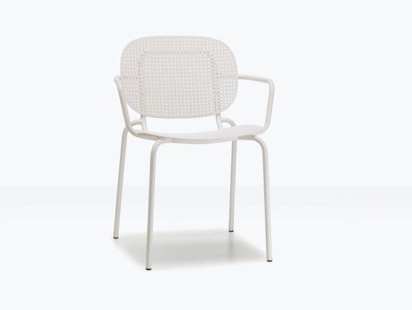 Chaise d'extérieure SISI assise dots avec accoudoirs- SCAB
