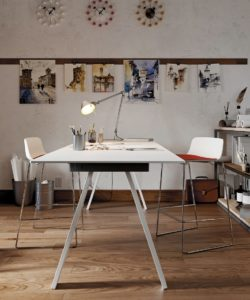Table VU/BR HPL blanc - COLOS