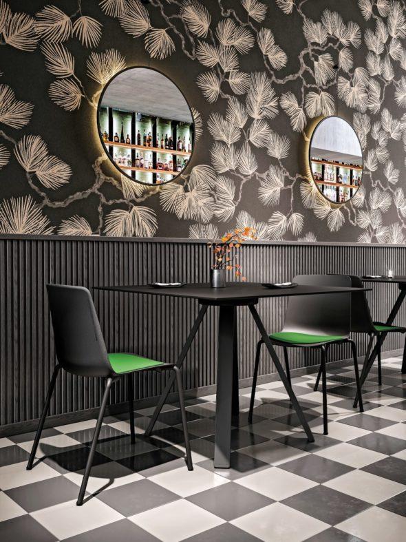 Tables VU/BR HPL noir - COLOS