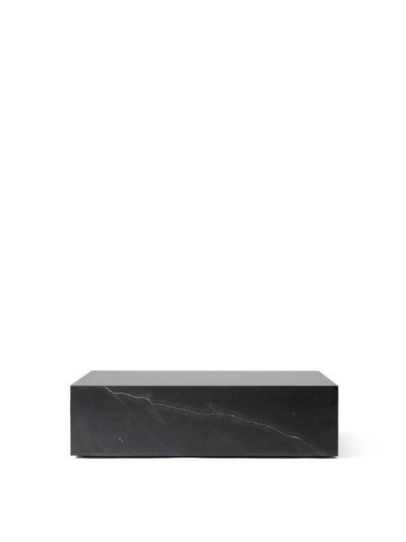 Table basse Plinth Low Nero Marquina noir - MENU