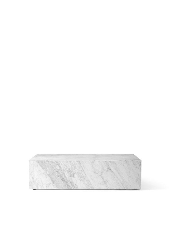 Table basse Plinth Low Marbre Carrara blanc - MENU