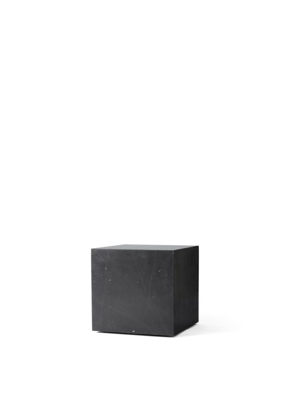 Table basse Plinth Cubic Nero Marquina Noir - MENU