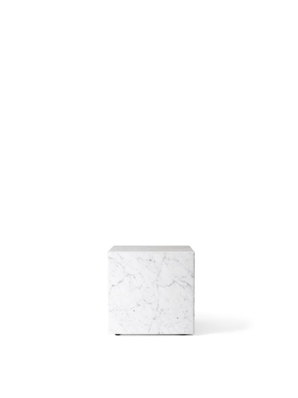 Table basse Plinth Cubic Marbre Carrara blanc - MENU