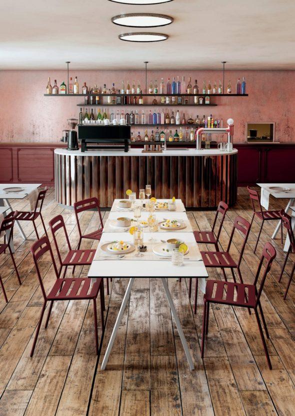 Table pour collectivités, Cafés Hôtels Restaurants, accessibles PMR - COLOS