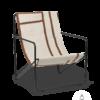 Fauteuil Desert Lounge Tissu Shape structure noire- Fermliving
