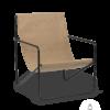 Fauteuil Desert Lounge Tissu Sable structure noire- Fermliving