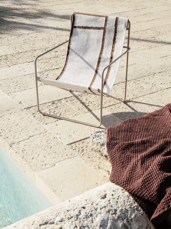 Fauteuil Desert Lounge Tissu Shape structure brun cachemire - FERMLIVING