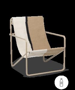 Fauteuil Desert Lounge Tissu Shape structure brun cachemire- Fermliving