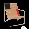 Fauteuil Desert Lounge Tissu Block structure brun cachemire - Fermliving