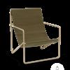Fauteuil Desert Lounge Tissu Olive structure brun cachemire - Fermliving
