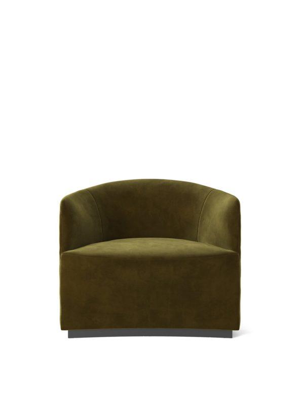 Fauteuil Lounge Tearoom velours vert - MENU