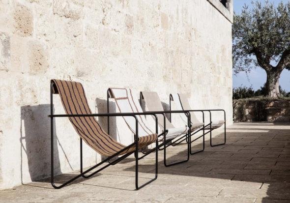Fauteuils Desert Lounge structure noire - Fermliving