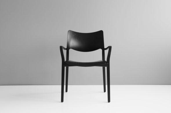 Chaise Laclasica frêne teinté noir - STUA