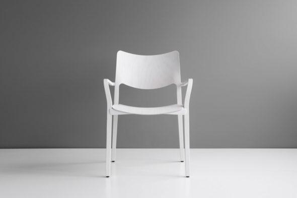 Chaise Laclasica frêne teinté blanc - STUA